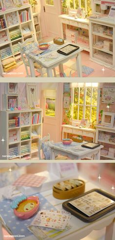 1/6 Ooak handmade diorama PINK PARADISE CRAFT ROOM on ebay :)