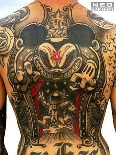 Mickey Mouse Back Piece by Neo #inked #inkedmag #tattoo #Back #idea #mickey #Mouse #disney