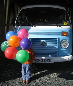 Classic Camper Holidays printed balloons
