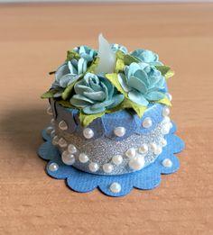 """Summer Blue"" Tea Light Cake (made by Kim)"