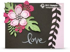 VIDEO: Botanical Blooms Edgelit Love Card | Stampin Up Demonstrator - Tami White - Stamp With Tami Crafting and Card-Making Stampin Up blog