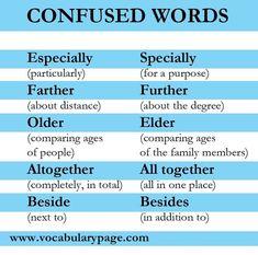 ENGLISH CURIOSITIES! ✨ Confused words Algunas palabras en inglés son muy parecida, aquí algunos ejemplos