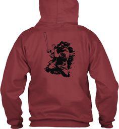 Witner Hoodie Maroon Sweatshirt Back