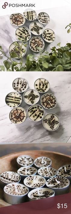 "Free People Henna Tea-light Candles 🎀NIB - 🎀Most items below $10 are FIRM  - 🎀Read ""All You Need To Know"" Post - 🎀Bundle & Save on Shipping ( especially with undies) Free People Other"