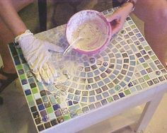 Simple steps to great mosaic! I want to learn to do this. #recycledcraftsglass