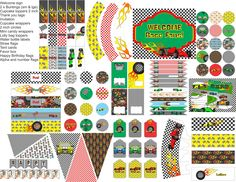 Race Car Birthday party printables, racing car party decorations, everything you need for your race car party