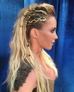 Viking braids aesthetic in 2020 viking hair braided hairstyles viking brai aesthetic brai braided braids hair hairstyles viking braid hairstyles bridesmaid up dos poeticjusticebraids viking braids lagertha viking braids faux hawk viking braids lagertha Cheveux Lagertha, Lagertha Hair, Vikings Lagertha, Braided Hairstyles, Wedding Hairstyles, Cool Hairstyles, Hair Inspo, Hair Inspiration, Art Afro
