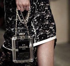 Chanel 2014 Perfume Bottle Lucite Bag