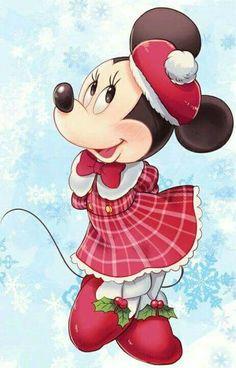 Minnie is dazzling in her winter attire. Mickey Mouse Wallpaper, Mickey Mouse Cartoon, Mickey Mouse And Friends, Disney Wallpaper, Disney Mickey Mouse, Retro Disney, Cute Disney, Walt Disney, Disney Art