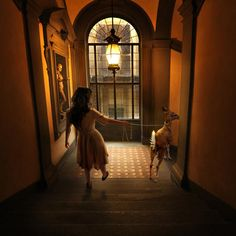 TOM CHAMBERS, Walk on the Wild Side, 2012 - Who doesn't want to take a fawn on a walk through an Italian museum?