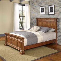 Americana Distressed Natural Acacia Vintage King Bed