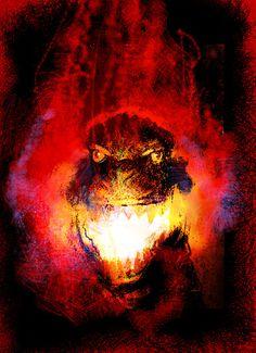 Godzilla by Bill Sienkiewicz *