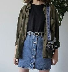 1 or - Mode - School Outfits Highschool Retro Outfits, Mode Outfits, Grunge Outfits, Trendy Outfits, Vintage Outfits, Summer Outfits, Plad Outfits, Autumn Outfits, Tomboy Outfits