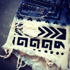 Tribal shorts DIY