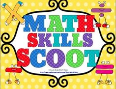 Math Scoot Bundle - Get your students up and moving with this fast paced and fun math activity!!!Your students will love practicing math skills with this collection of 18 Scoot games. $