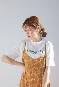 "haeshungael: ""Crossed Back Strap Floral Cami Dress "" Autumn Fashion Women Fall Outfits, Casual Fall Outfits, Modest Outfits, Cute Outfits, Korean Fashion Trends, Asian Fashion, Aesthetic Fashion, Aesthetic Clothes, Mode Boho"