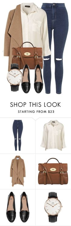 """Untitled #4871"" by laurenmboot ❤ liked on Polyvore featuring Topshop, Harris Wharf London, Mulberry, H&M and Daniel Wellington"