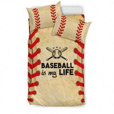 Shopeholic:Baseball is my Life Bedding Set Duvet Bedding Sets, Crib Bedding, Linen Bedding, Bed Linen, Bed Covers, Duvet Cover Sets, Pillow Covers, Pillow Inserts, Baseball Bed