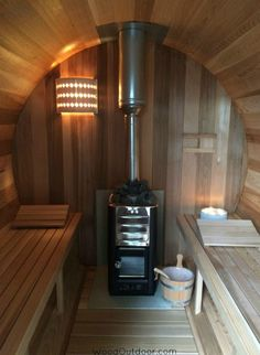 Barrel Sauna Harvia houtkachel