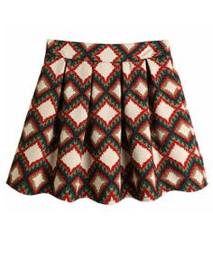 Retro Houndstooth Pleated Skirt - - maybe with a different color/pattern - -