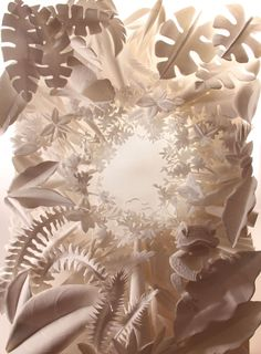 paper sculpture by hazel buchan, via Behance