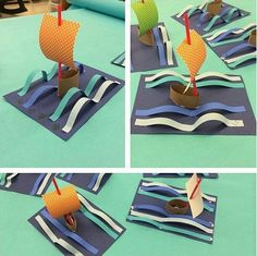 Sail away with us in these fun #toiletpaperroll #boats  Repost from @_theartdream  #waves #ship #sailboat #artteacher #artsy #artwork #artproject #crafty #create #creativity #creative #craftsforkids #kidscrafts #kidart #teachersfollowteachers #tinyugames #toddlerart #prek #papercraft #papercrafts #playmatters #invitationtocreate