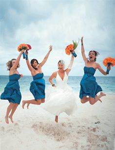 got to have jumping pics!!! at least one of each the bridesmaids and groomsmen as well as a group jumping pic!