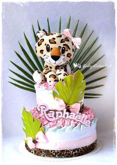 Gâteau de couches Pampers personnalisé pour une petite Raphaëlle