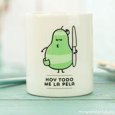 "Taza ""Hoy todo me la pela""  -  Mr. Wonderful"