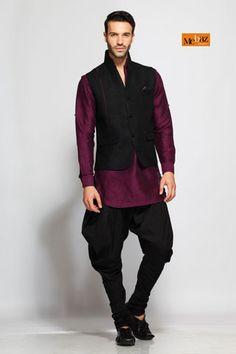 Kurta Pyjama, Men Apparels, Mebaz, Mebaz, Three piece Kurta - 419309 ,  ,