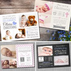 Personalised Photo Boy / Girl CHRISTENING / Baptism / Naming Day Invitations C03 | eBay Christening Invitations, Wedding Invitations, Jenny Smith, Name Day, Girl Christening, Stationery, Celebrations, Boys, Twins