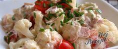 Recept Květákový salát se šunkou Grilling Recipes, Cooking Recipes, Clean Recipes, Healthy Recipes, Good Food, Yummy Food, Breakfast Snacks, Sauerkraut, Bon Appetit