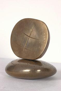 Barbara Hepworth, Small Hieroglyph, 1959 polished bronze, edition 2/10, 4 1/4 x 4 x 3 1/2 in / 10.8 x 10.2 x 8.9 cm