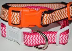 """Chevron Pattern Dog Collar - Small Fits 12"""" to 16"""" by BonnieBowWows on Etsy"""