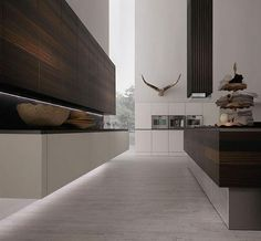 kitchen minimalist rational rough materials and wood | rational, Kuchen