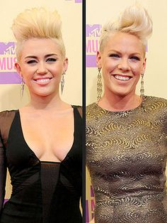 """P!nk- Be daring!    """"Everyone has long, brown hair,"""" Pink said Tuesday morning during an appearance on Today. """"When two girls get fearless and shave their heads, it's a big deal. I think we're just a little more daring."""""""