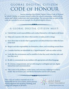 GDC-honour-code - Learn the path of the Global Digital Citizen Honour Code and how to help students to find their way with it—and of course, there's resources!