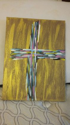 Abstract Cross Painting on Canvas