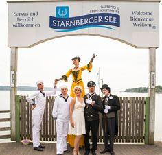Herzlicher Empfang der Gäste am Starnberger See. Mitarbeiterfeier.