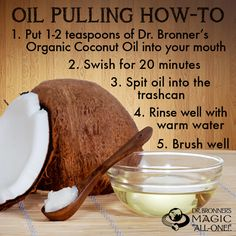 Oil Pulling - an ancient Ayurvedic oral health care technique that helps kill bacteria, whiten teeth, and reduce tooth sensitivity! (I can honestly say coconut oil has helped the soreness for my wisdom teeth about to come in)