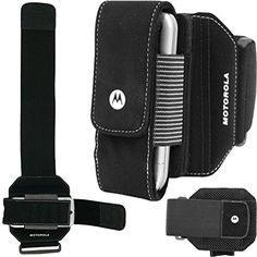Armband Sports Gym Workout Arm Cover Case Running Strap Band Pouch Black for T-Mobile Nokia Lumia 521 - T-Mobile Nokia Lumia 635 - T-Mobile Nokia Lumia 925 - T-Mobile Nokia XpressMusic 5130. Made of neoprene material. Original Motorola made universal armband. Open top and side for access to headphone plug in. Latches securely on your arm. Provides anti-slip grip with adjustable armband. Phone pouch is detachable from the armband. An extremely strong fastener connects the case to the...