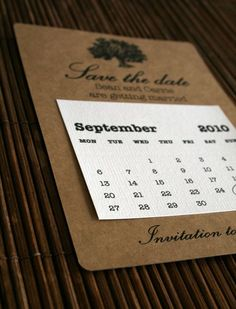save the date with calendar