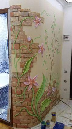 Catchy Mosaic Floor Ideas For Home Interior - DiyForYou Plaster Art, Plaster Walls, Diy Wall Art, 3d Wall, Mural Art, Wall Murals, Rideaux Design, Wall Sculptures, Wall Design