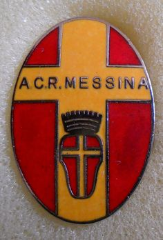 BELLISSIMO DISTINTIVO SPILLA PIN BADGE A.C.R. MESSINA CALCIO