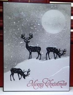 Image result for deer die scuts christmas cards