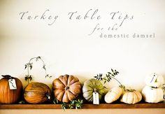10 Quick Thanksgiving Table Tips