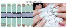 1.5 NAIL WRAPS STICKER - Full Self Adhesive Polish Foils Decoration Art Decals D1018