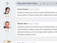 Discussions timeline