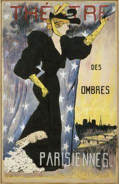 Théâtre des ombres Parisiennes (1890) Miquel Utrillo Art Nouveau, Baseball Cards, Movie Posters, Painting, Centre, Advertising, Power Of Words, Bag, Film Poster