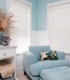 Blinds, white horizontal Venetian blinds. Get inspired look at    www.sunkistblinds.com Riverside, California.